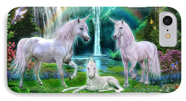 Rainbow Unicorn Family IPhone Case by Jan Patrik Krasny