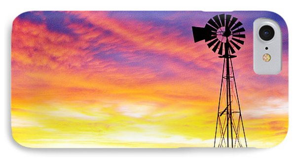 Rainbow Windmill IPhone Case by Shirley Heier