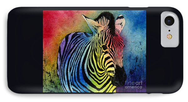 Rainbow Zebra IPhone Case