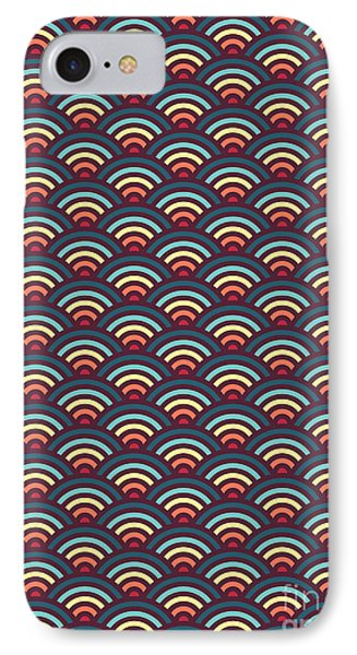 Rainbowaves Pattern Dark IPhone Case