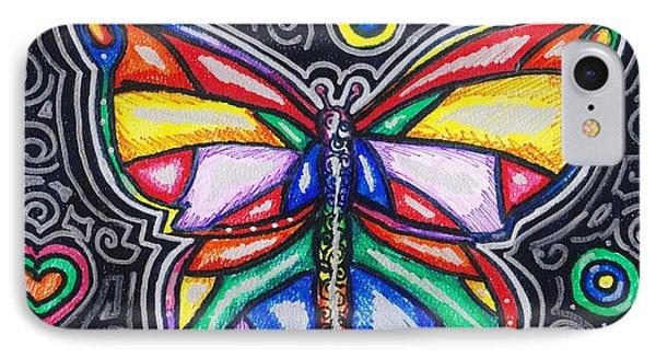 Rainbows And Butterflies Phone Case by Shana Rowe Jackson