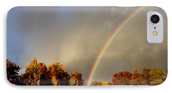 Rainbows Of Autumn Phone Case by Debra     Vatalaro