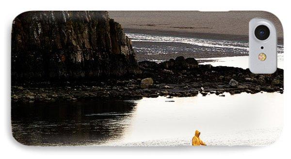 Raincoat Dog Walk Phone Case by John Daly