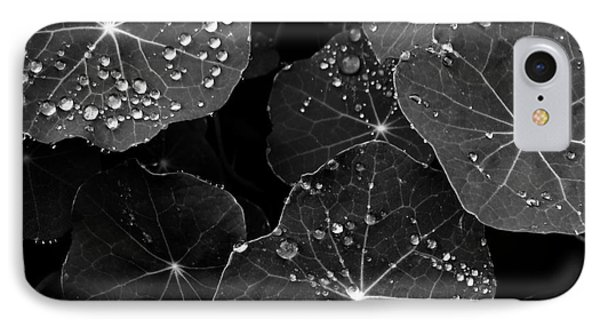 Raindrops On Nasturtium IPhone Case by Gayle Swigart