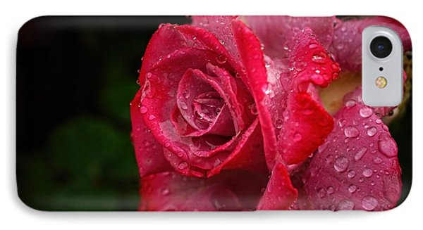 Raindrops On Roses Phone Case by Peggy Hughes