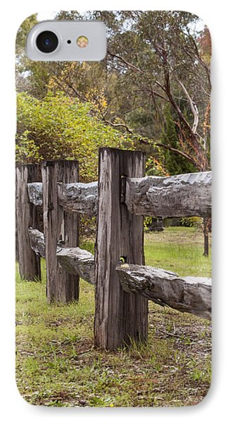 Raindrops On Rustic Wood Fence Phone Case by Michelle Wrighton