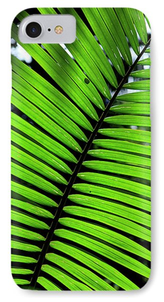 Far North Queensland iPhone 7 Case - Rainforest Leaves Form Abstract by Paul Dymond