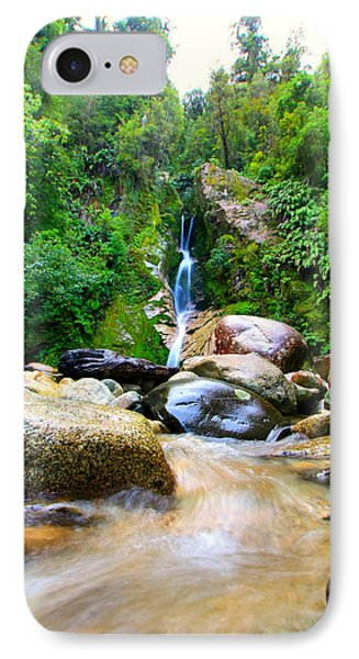 IPhone Case featuring the photograph Rainforest Stream New Zealand by Amanda Stadther