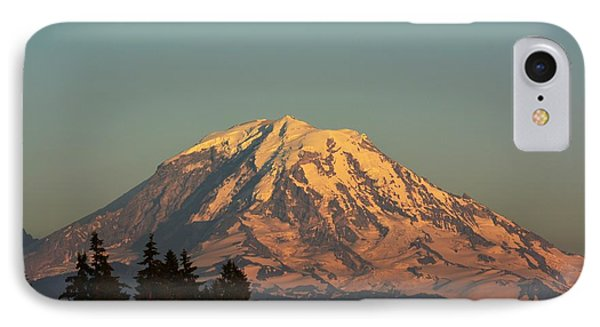 Rainier At Dusk IPhone Case by Gayle Swigart