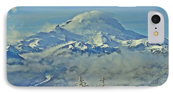 IPhone Case featuring the photograph Rainier Cloaked In Winter by Jeff Cook