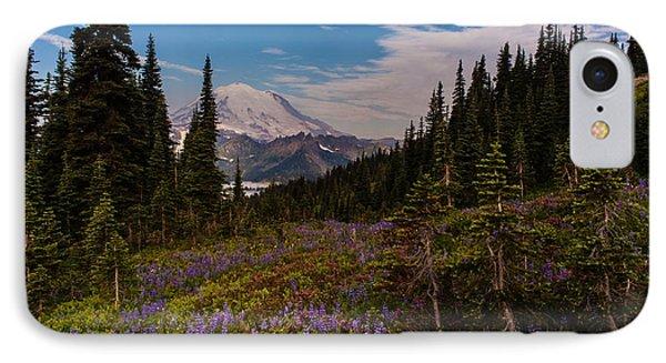Rainier Tipsoo Wildflowers IPhone Case by Mike Reid