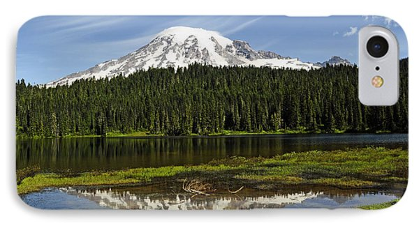 IPhone Case featuring the photograph Rainier's Reflection by Tikvah's Hope