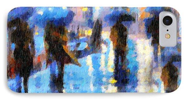 Raining In Italy Abstract Realism IPhone Case by Georgiana Romanovna