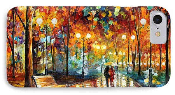 Rain's Rustle 2 - Palette Knife Oil Painting On Canvas By Leonid Afremov IPhone Case by Leonid Afremov