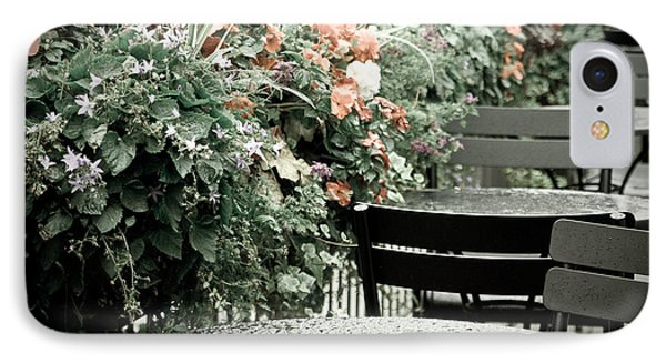 IPhone Case featuring the photograph Rainy Day At The Cafe by Erin Kohlenberg