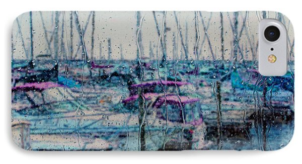 Rainy Day At The Lakefront IPhone Case by Jack Zulli