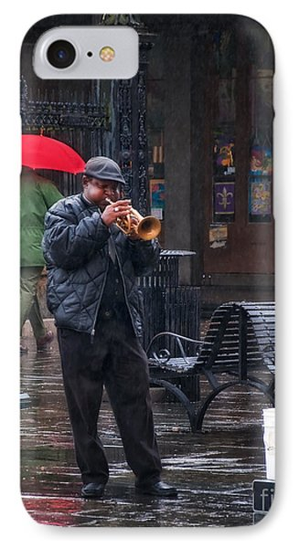 Rainy Day Blues New Orleans IPhone Case by Kathleen K Parker