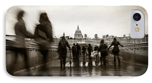 Rainy Day In London With Vintage Filter IPhone Case by Susan Schmitz