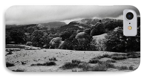 Rainy Day In The Lake District Near Loughrigg Cumbria England Uk Phone Case by Joe Fox