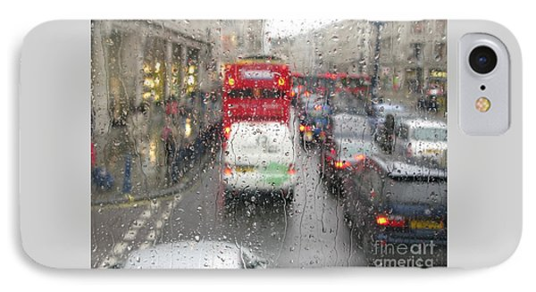 IPhone Case featuring the photograph Rainy Day London Traffic by Ann Horn