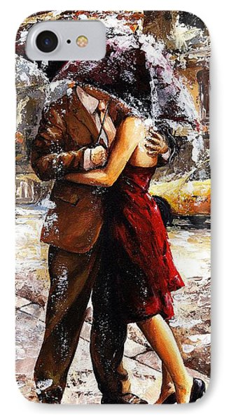 Rainy Day - Love In The Rain 2 IPhone Case by Emerico Imre Toth