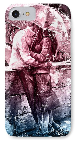 Rainy Day - Love In The Rain #color01 IPhone Case by Emerico Imre Toth