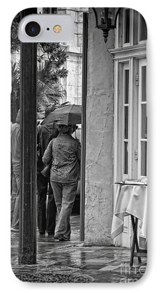 Rainy Day Lunch New Orleans IPhone 7 Case by Kathleen K Parker