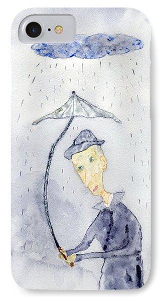 Rainy Day Man IPhone Case