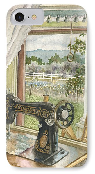 Rainy Day On The Old Farm IPhone Case by Anne Gifford