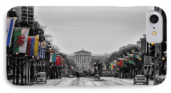 Rainy Day On The Parkway IPhone Case by Bill Cannon