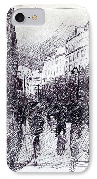 Rainy Day Paris IPhone Case by J Reifsnyder