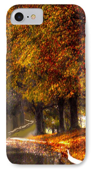 IPhone Case featuring the photograph Rainy Day Path by Lesa Fine