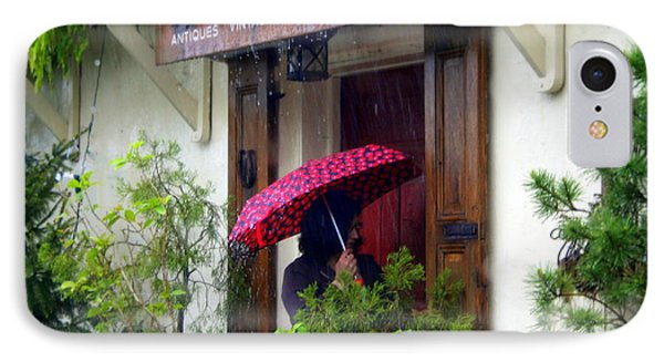 Rainy Day People IPhone Case by Debra Kaye McKrill