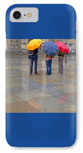 Rainy Day Tourists Phone Case by Ann Horn
