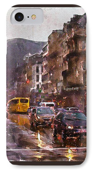 Rainy Day Traffic IPhone Case