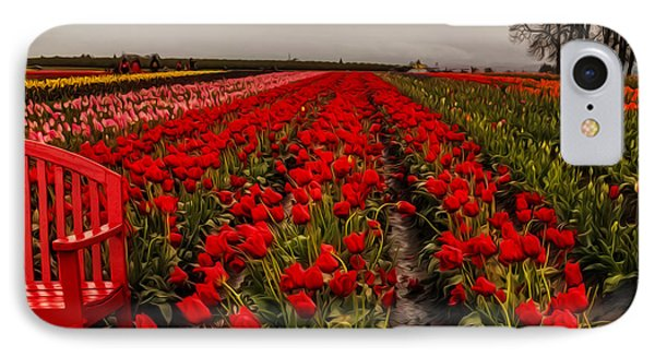 IPhone Case featuring the photograph Rainy Day Tulips by Nancy Marie Ricketts