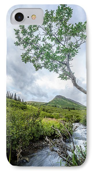 Rainy Evening On A Mountain Stream IPhone Case