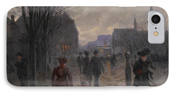 Rainy Evening On Hennepin Avenue IPhone Case by Robert Koehler