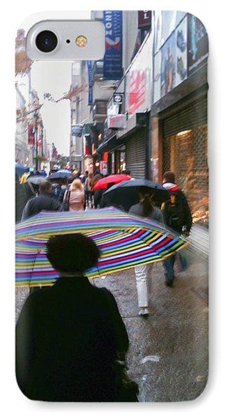 Rainy Morning 34th Street IPhone Case by Jon Woodhams