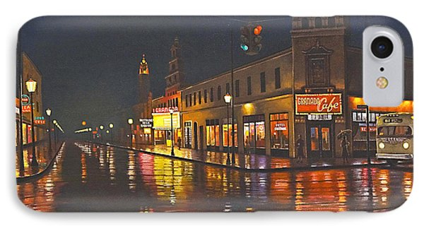 Rainy Night-117th And Detroit     Phone Case by Paul Krapf