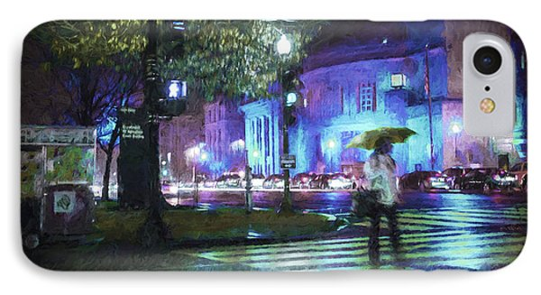 IPhone Case featuring the photograph Rainy Night Blues by Terry Rowe