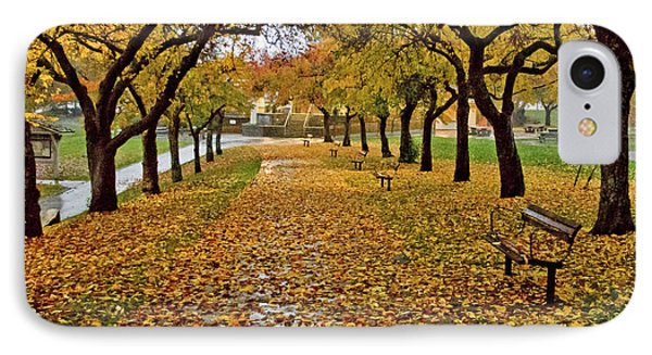 IPhone Case featuring the photograph Rainy Path by Maria Janicki