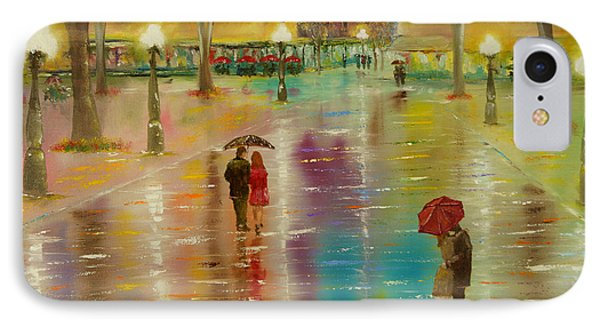 IPhone Case featuring the painting Rainy Reflections by Chris Fraser
