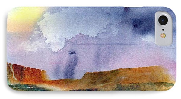 IPhone Case featuring the painting Rainy Skies by Anne Duke