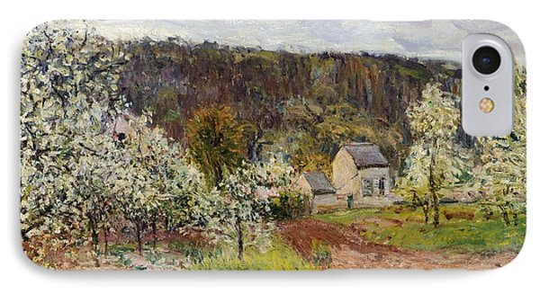 Rainy Spring Near Paris Phone Case by Alfred Sisley