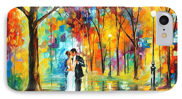 Rainy Wedding - Palette Knife Oil Painting On Canvas By Leonid Afremov IPhone Case by Leonid Afremov