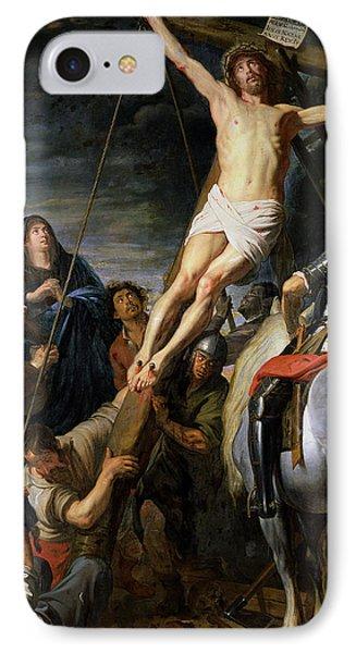 Raising The Cross IPhone Case by Gaspar de Crayer