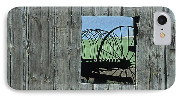 Rake And Barn IPhone Case by Latah Trail Foundation