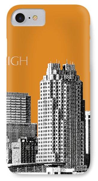 Raleigh Skyline - Dark Orange IPhone Case by DB Artist