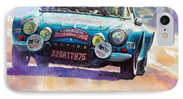Rally Monte Carlo 1972 Alpine-renault A110 1600  IPhone Case by Yuriy Shevchuk